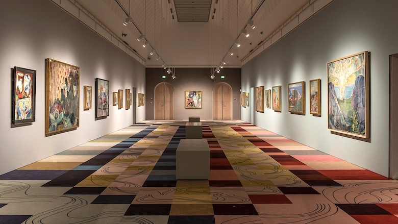 Museum Carpeting: Asger Jorn and Edvard Munch