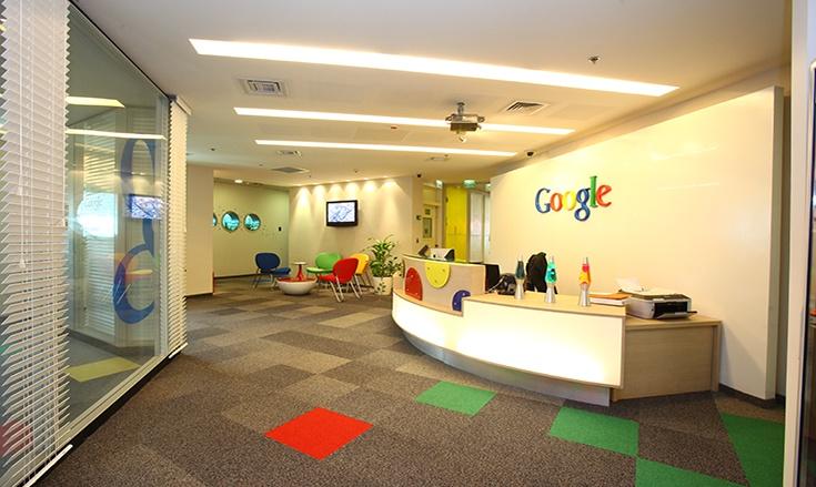 Carpet tiles in Google's European headquarters in Dublin, Ireland