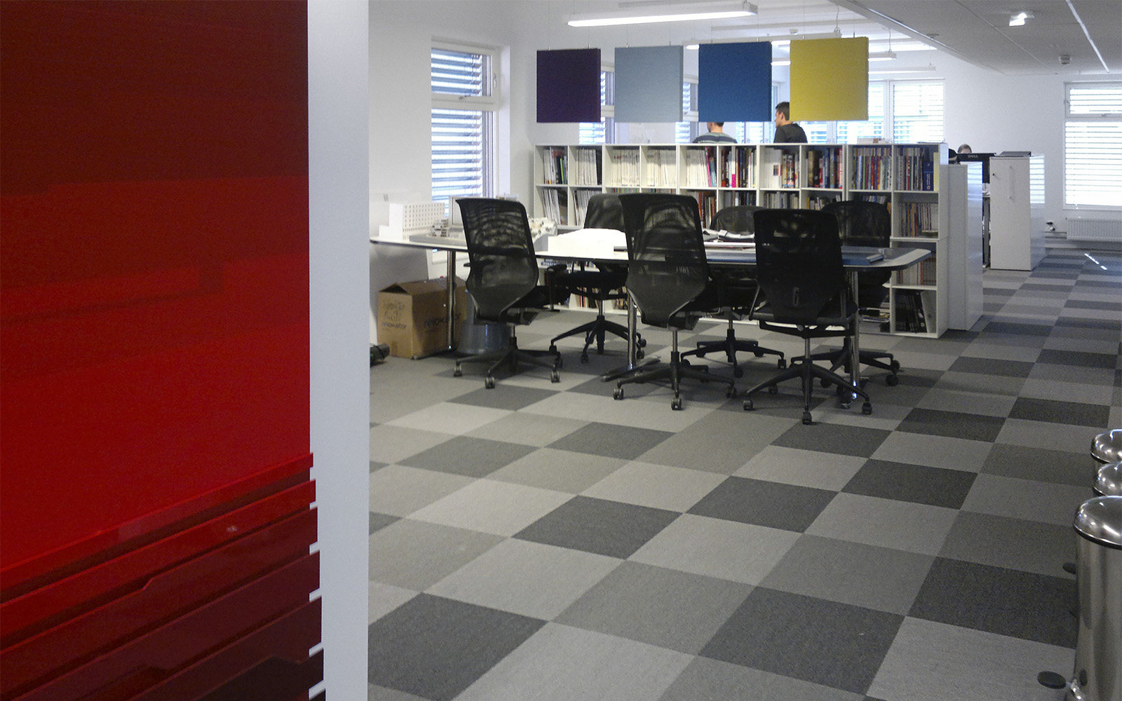 office carpet tiles by ege in checkered grey