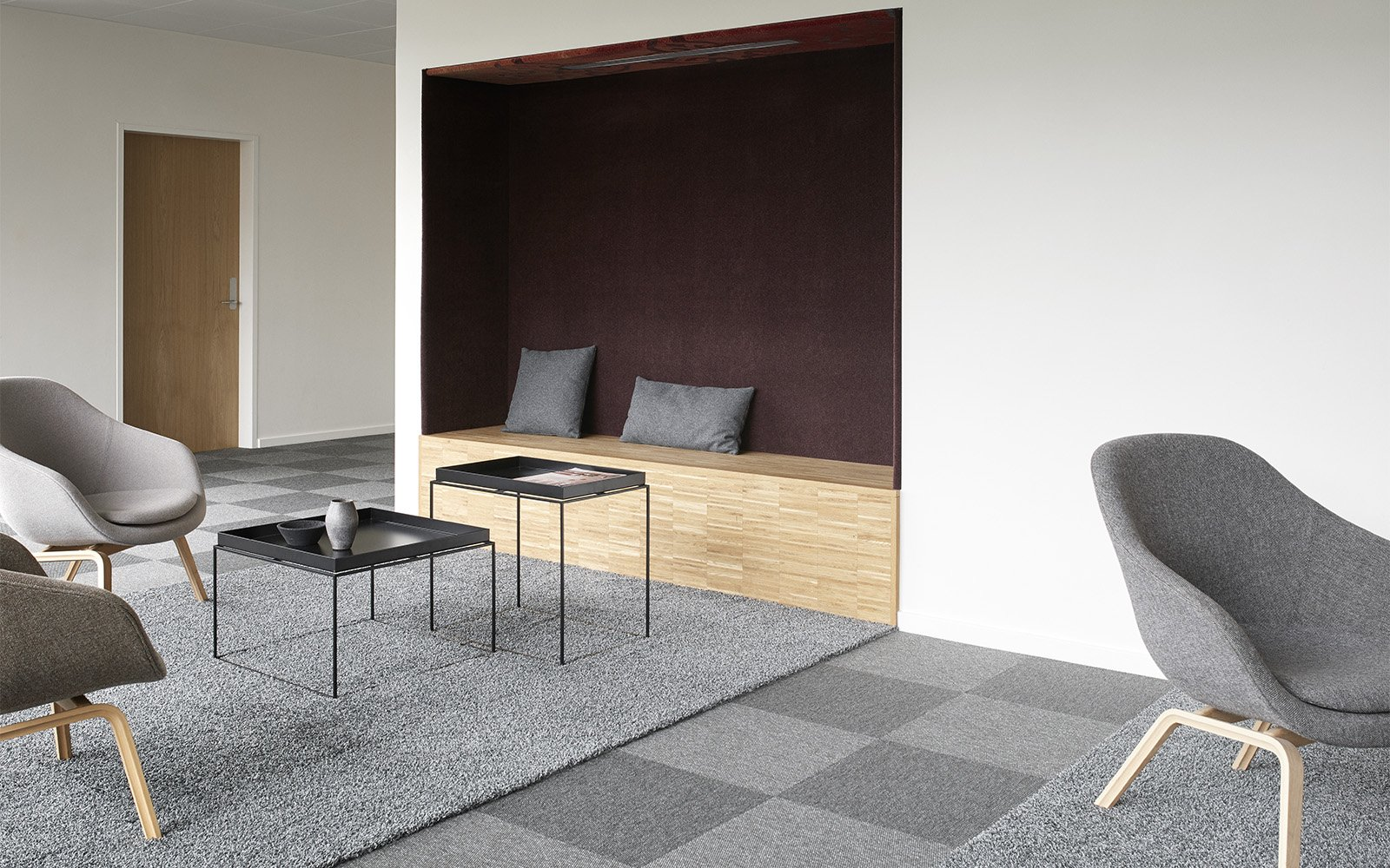 checkered grey carpet tiles by ege