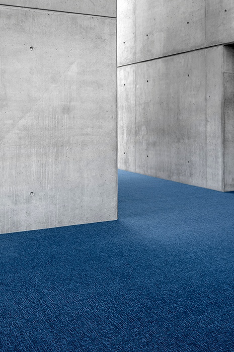 Rugged blue wall to wall carpet - Ege Carpets