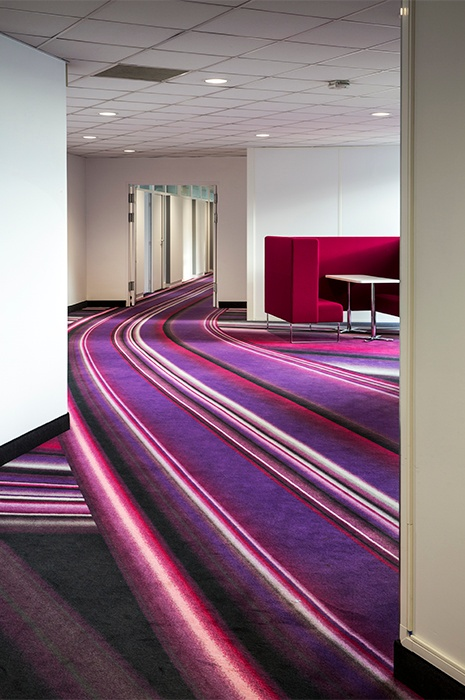 Carpet design by ege at Schweppes French Headquarters, showcasing how carpet design can contribute to brand awareness