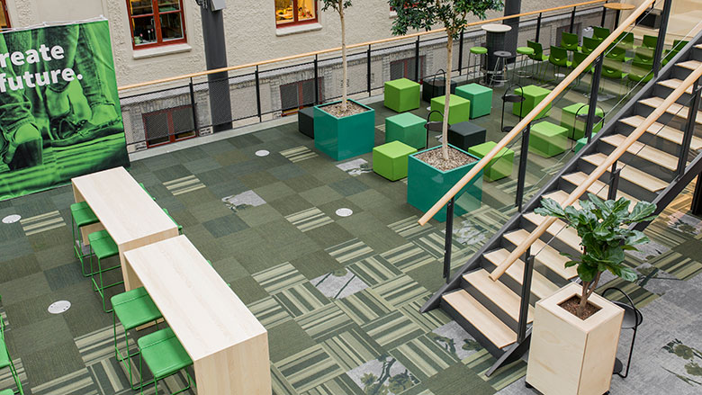 Sustainable carpet tiles by ege at Chalmers University