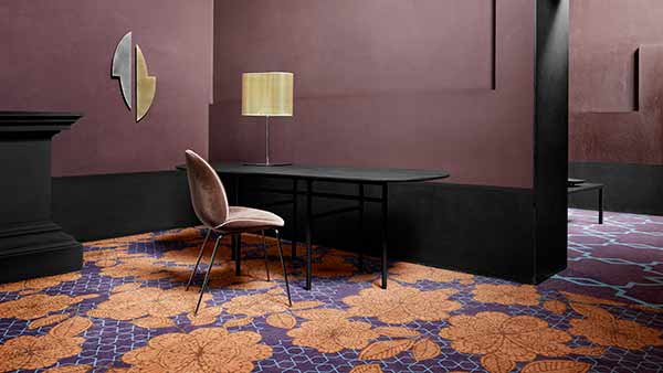 Wall-to-wall hospitality carpet from ege's Highline concept.